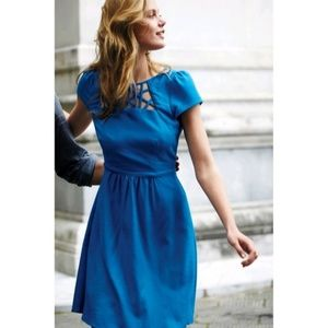 """Anthropologie """"Aria Dress"""" Royal Blue in Size 8"""